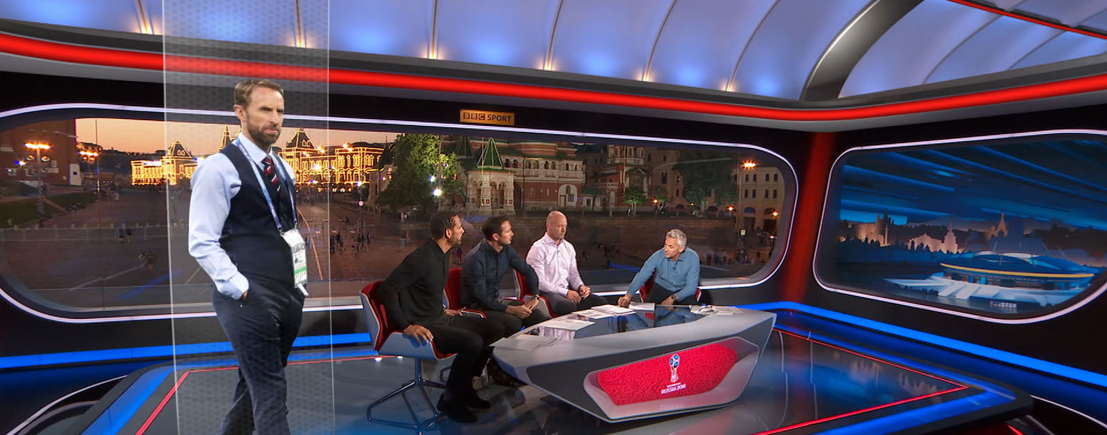 Design and preparation of virtual sets for BBC Sport