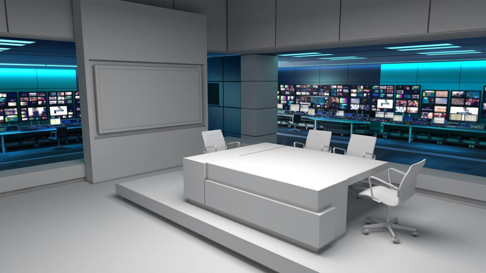 ITV News virtual set design